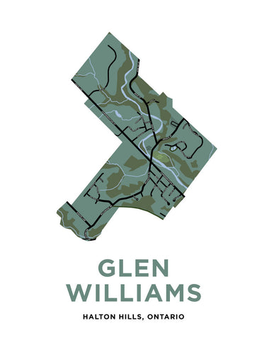 Glen Williams Map Print