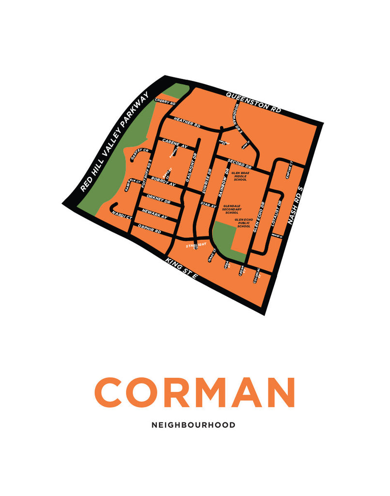 Corman Neighbourhood Map