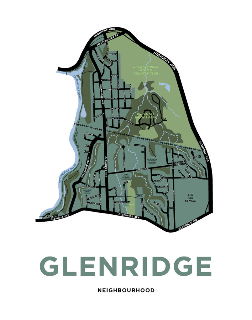 Glenridge Neighbourhood Map Print