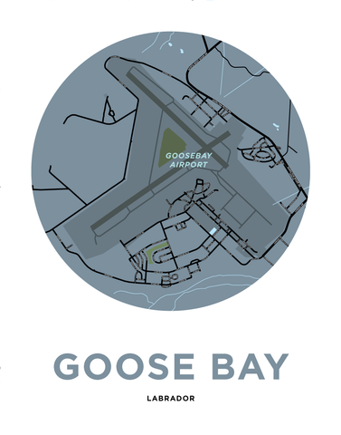 Goose Bay Map Print