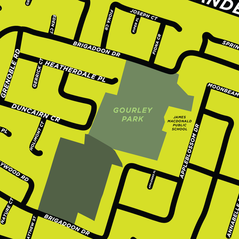 Gourley Neighbourhood Map