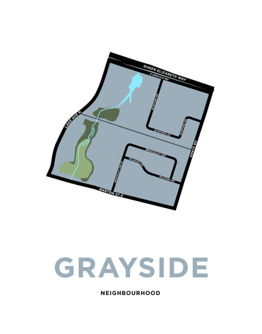 Grayside Neighbourhood Map Print