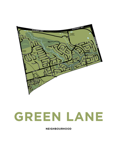 Green Lane Neighbourhood Map Print