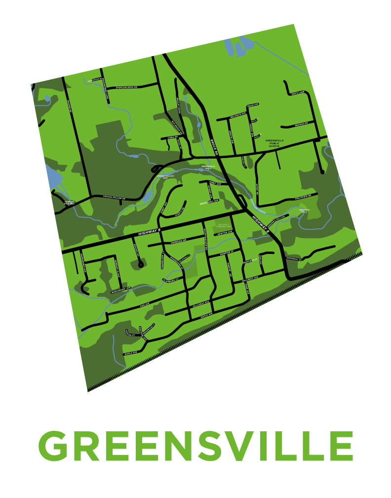 Greensville Map Print