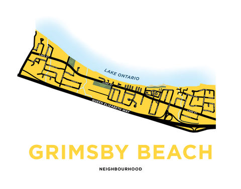Grimsby Beach Map Print