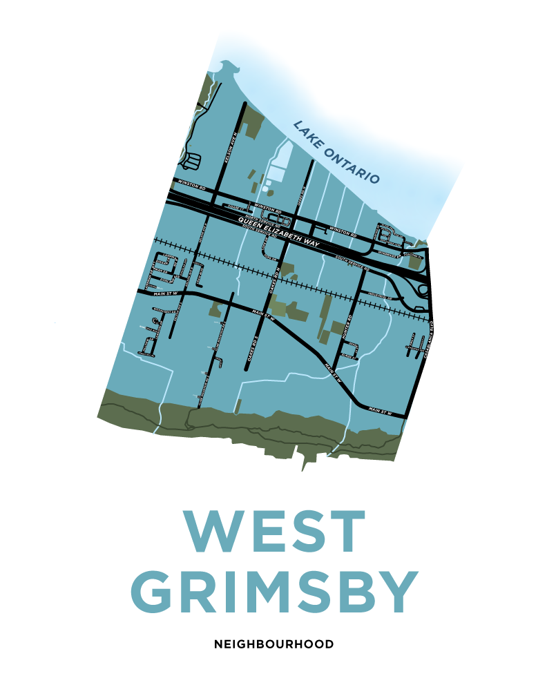 West Grimsby Map Print