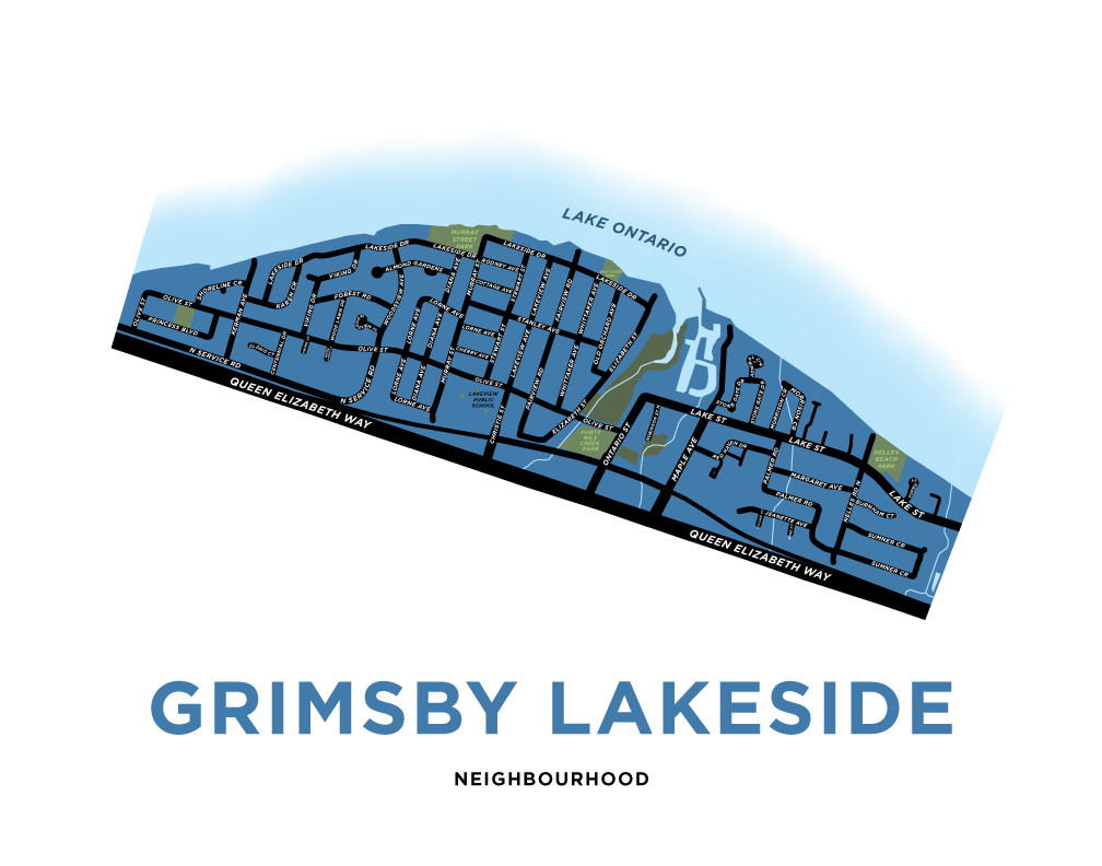 Grimsby Lakeside Map Print