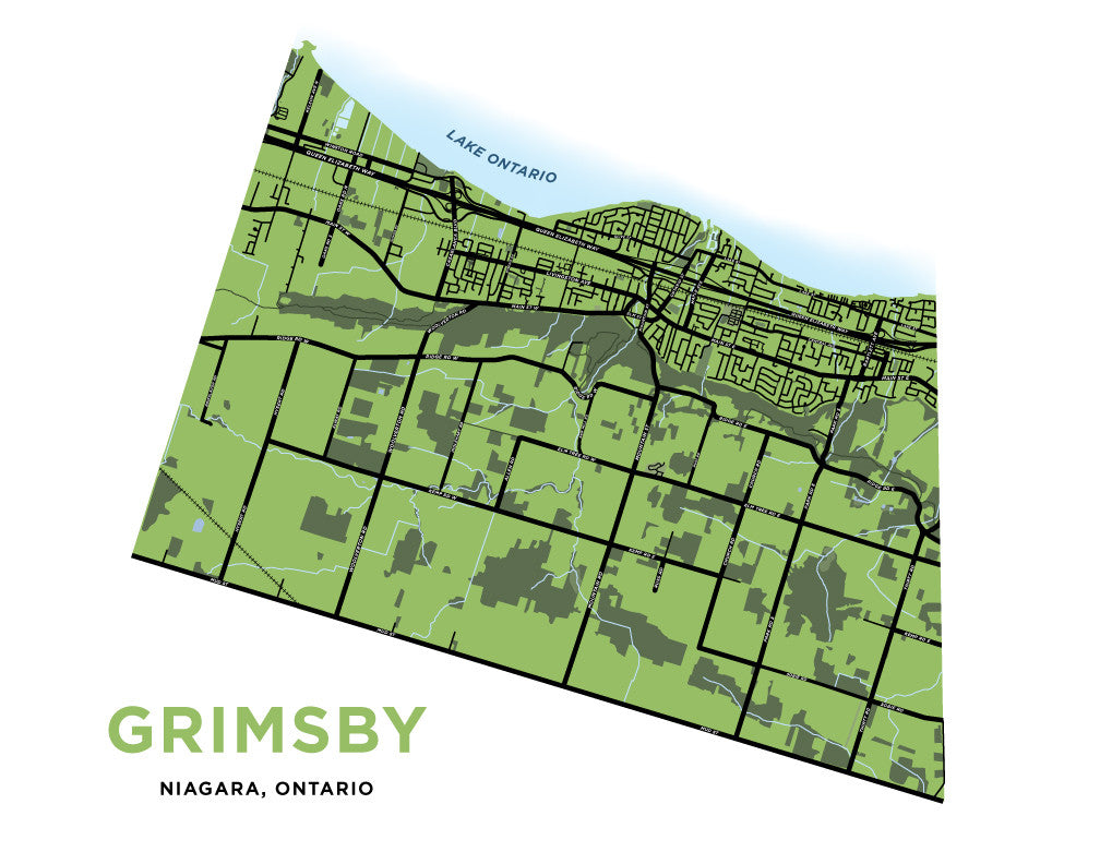Grimsby Map Print