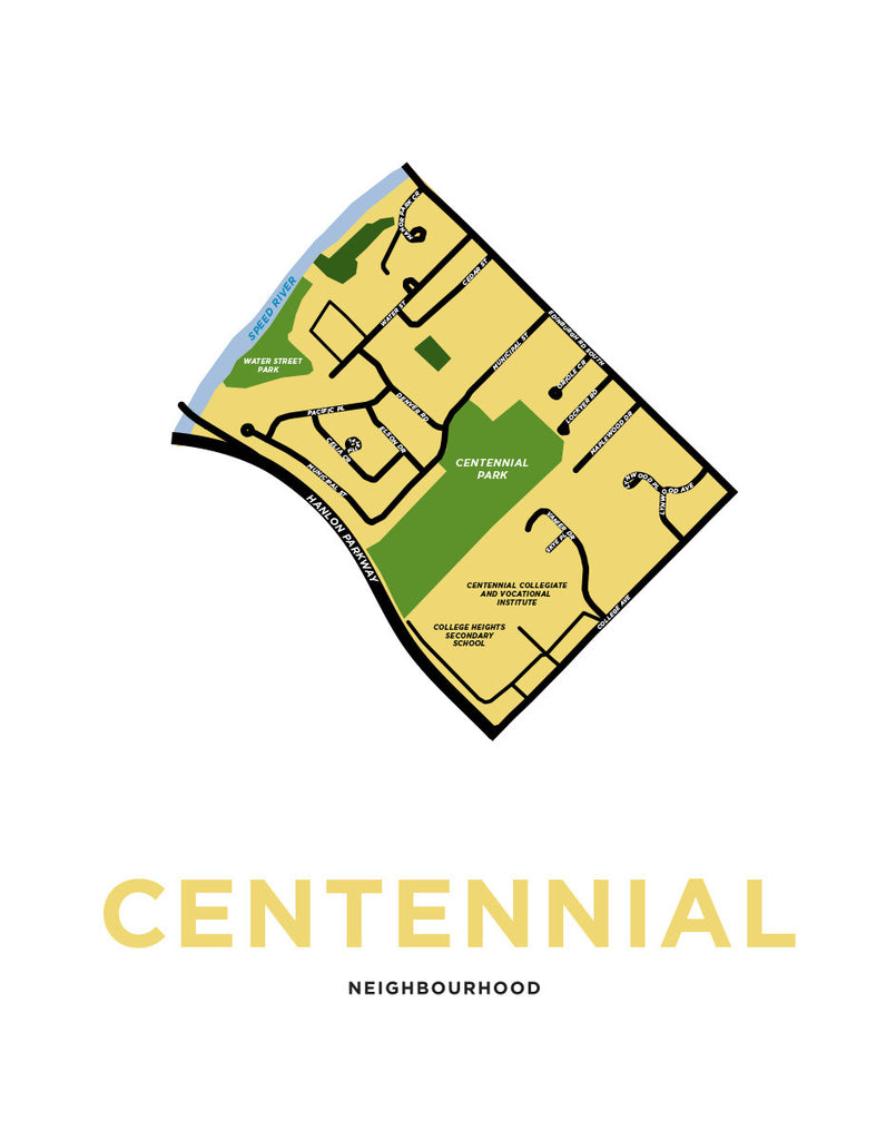 Centennial Neighbourhood Map