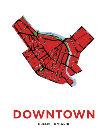 Downtown Guelph Neighbourhood Map