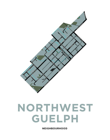 Northwest Guelph Neighbourhood Map Print