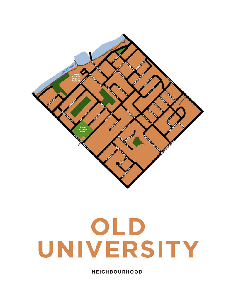 Old University Neighbourhood Map