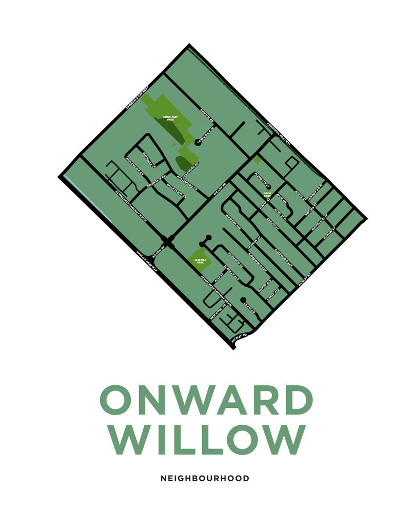 Onward Willow Neighbourhood Map