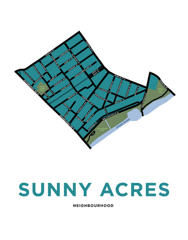 Sunny Acres Neighbourhood Map
