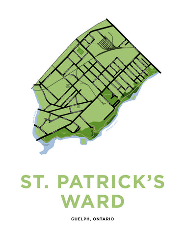 "St. Patrick's Ward Neighbourhood Map Print ""The Ward"""