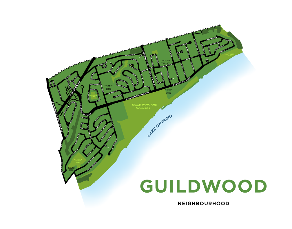 Guildwood Neighbourhood Map Print