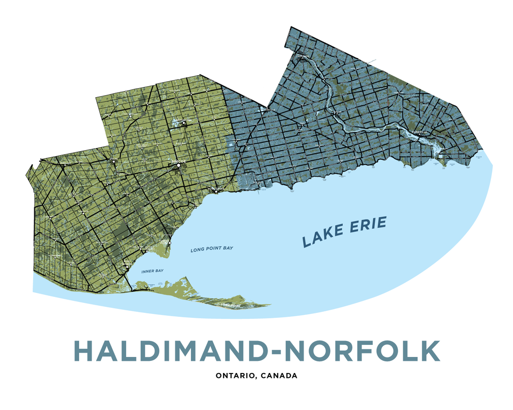Haldimand-Norfolk Map Print