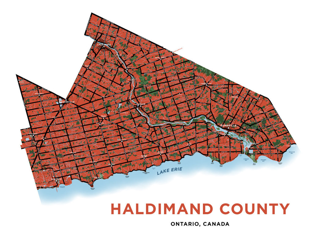 Haldimand County Map Print