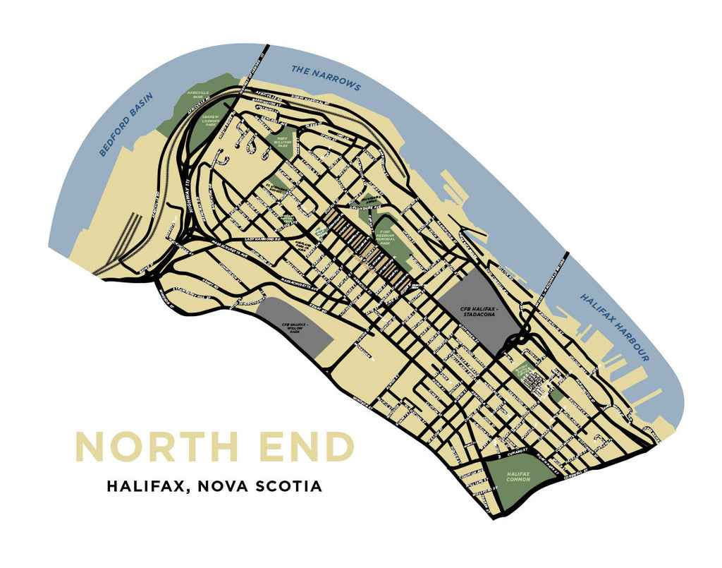 Halifax - North End Neighbourhood Map