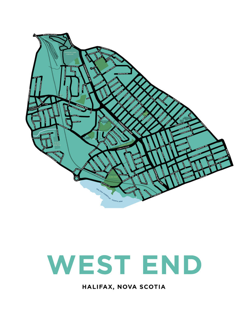 Halifax - West End Neighbourhood Map
