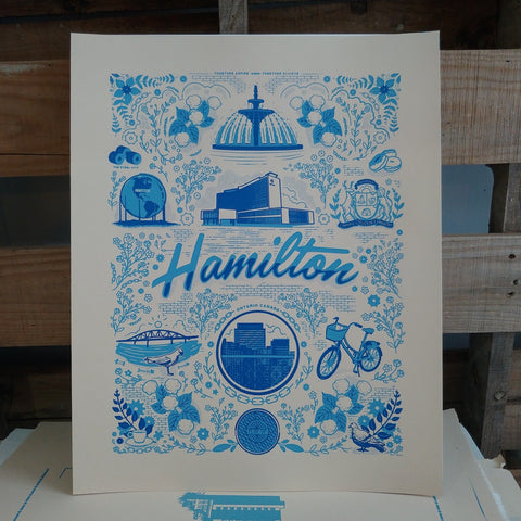Screen Print: Hamilton Blue