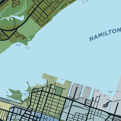 Hamilton Harbour Map Print