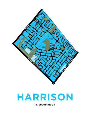 Harrison Neighbourhood Map Print