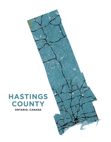 Hastings County Map Print