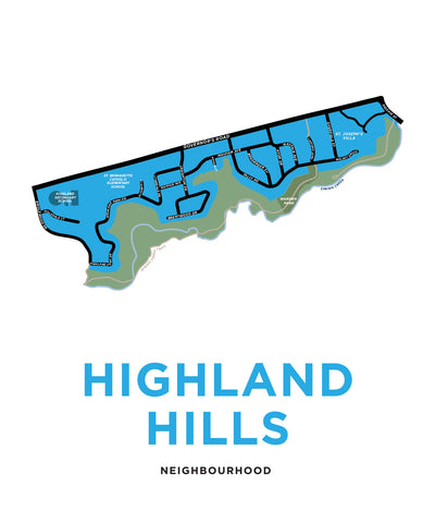 Highland Hills Neighbourhood Map