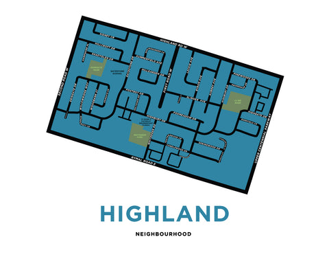 Highland Neighbourhood Map