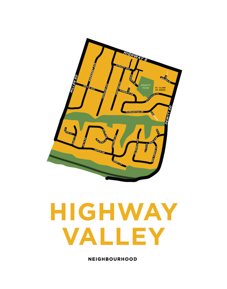 Highway Valley Neighbourhood Map