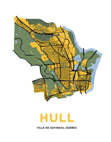 Hull Map Print (Gatineau, QC)