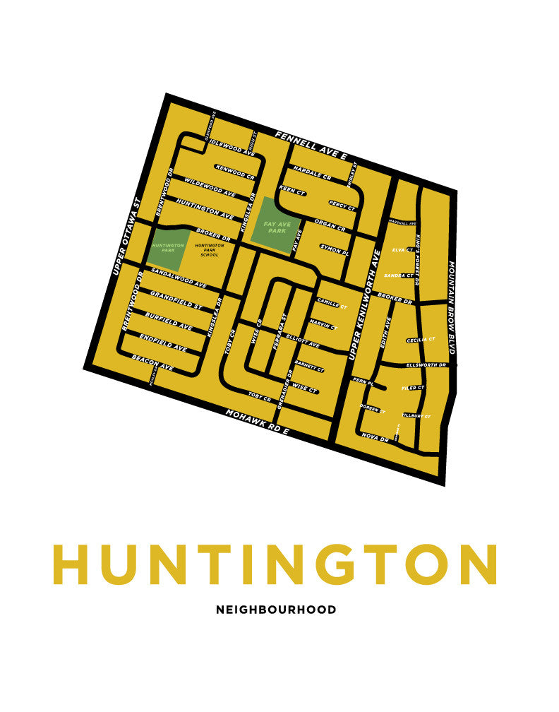 Huntington Neighbourhood Map