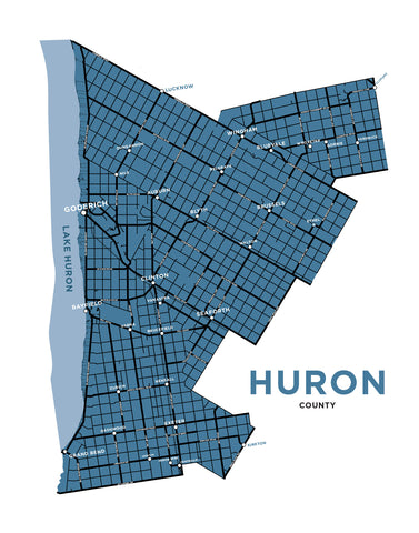 Huron County Map Print