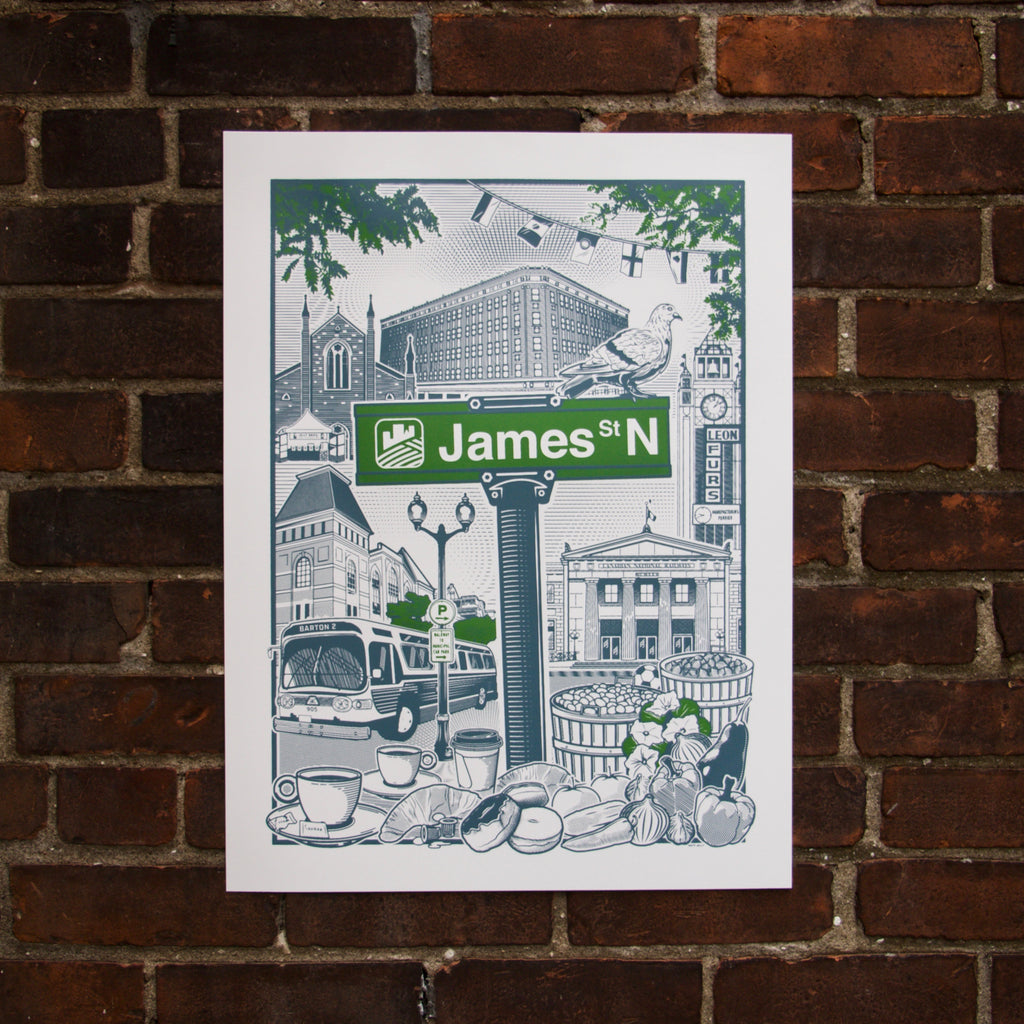 James St. North Screen Print