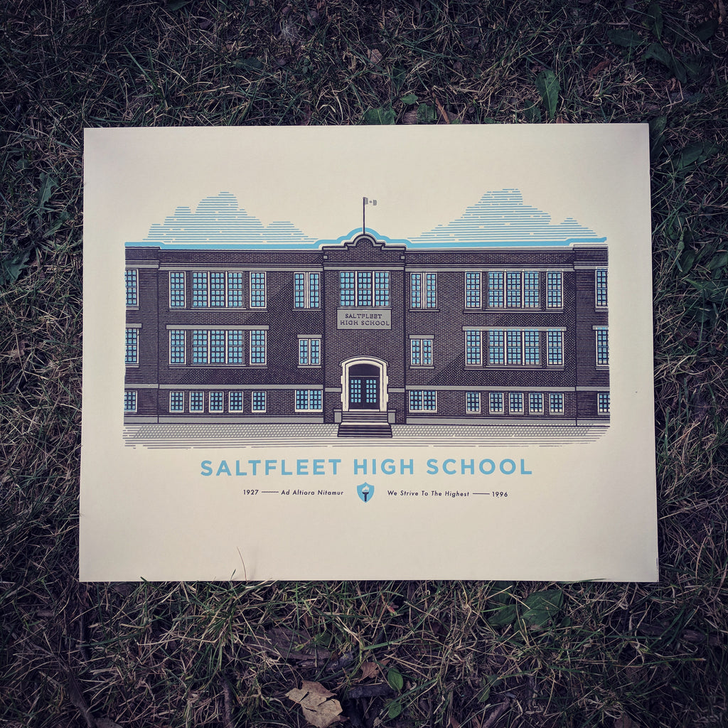 Old Saltfleet High School Screen Print