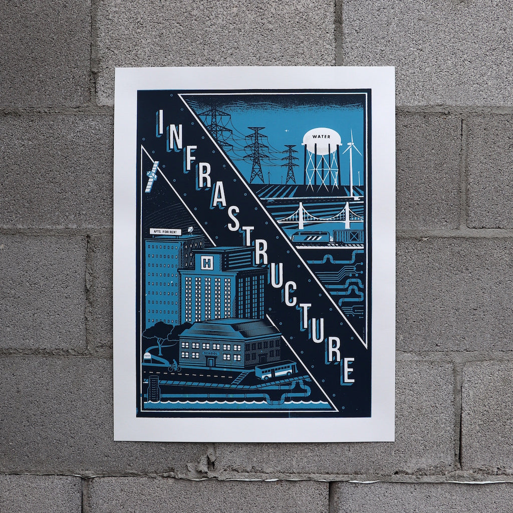 Infrastructure Screen Print