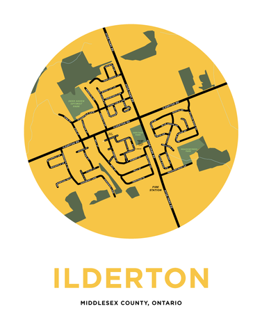 Ilderton Map Print