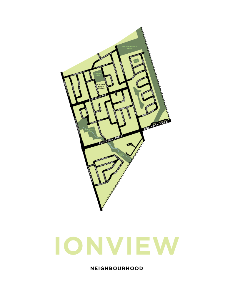Ionview Neighbourhood Map Print