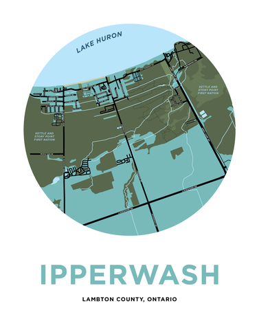 Ipperwash Map Print