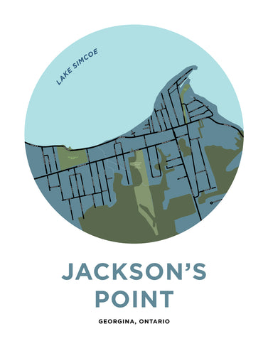 Jackson's Point Map Print