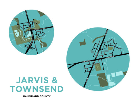 Jarvis & Townsend Map Print