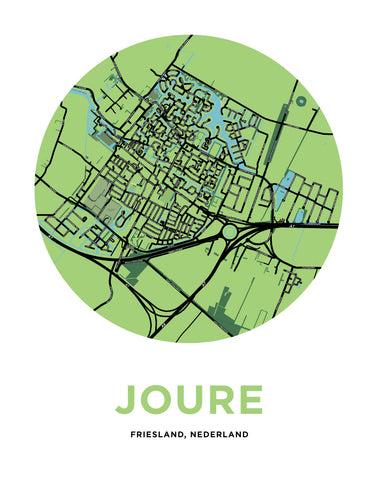 Joure, Netherlands Map Print