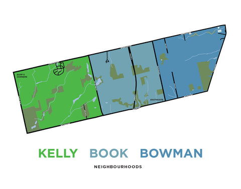 Kelly, Book and Bowman Neighbourhoods Map