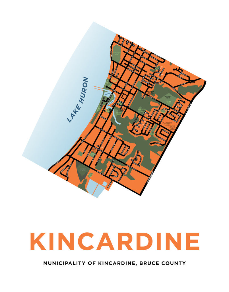 Town of Kincardine Map Print