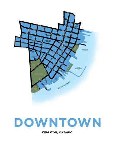 Downtown Kingston Map Print