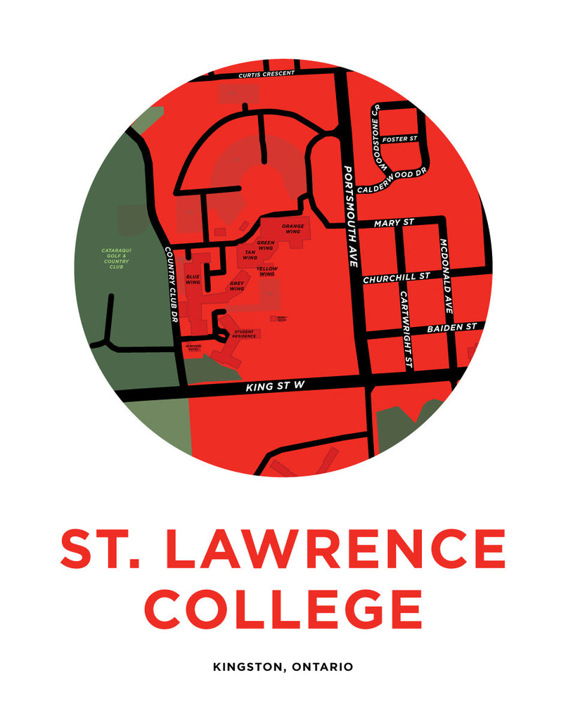 St. Lawrence College Campus Map
