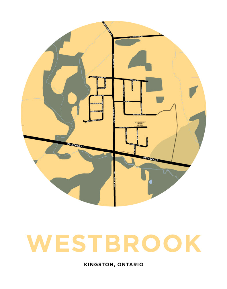 Westbrook Map Print Kingston Jelly Brothers