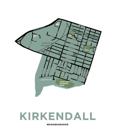 Kirkendall (North and South) Neighbourhood Map