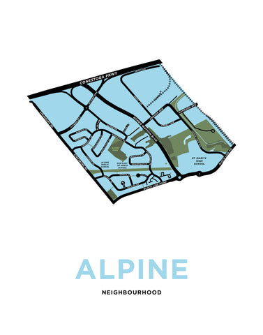 Alpine Neighbourhood Map Print